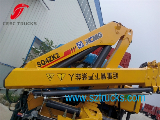 Small Knuckle Boom Crane : Best ton small used crane mounted truck with knuckle