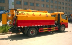 Combined vacuum sewage suction jetting truck for environment protection