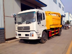 8m3 Heavy combination vacuum jetting truck high pressure cleaning and vacuum suction