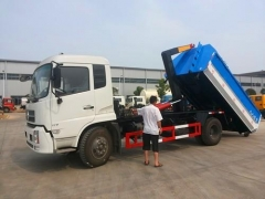 8000Liter best hook lift garbage trucks for sale overseas
