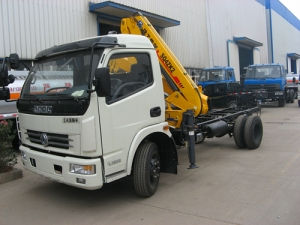 XCMG 4 Ton small used crane mounted truck