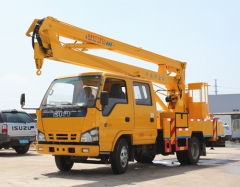 ISUZU 14m bucket lifting vehicle manufacturer directly sale
