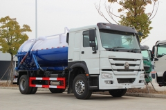 2016 produced SINOTRUK RHD 10000liters vacuum sewage suction truck