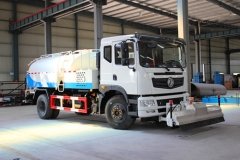 8000Liters Multifunction water jetting truck export to Congo