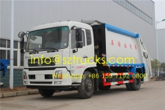 Manufacturer sale 14000liters trash compressor truck
