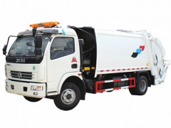 Laos customer buy Dongfeng 8 cbm garbage compactor truck