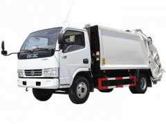 Dongfeng 6 cbm garbage truck export to Mongolia