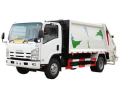 ISUZU 8000Litres trash compactor truck export Carribean sea