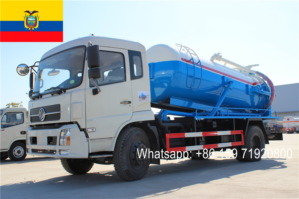 Ecuador customer buy Dongfeng 4200mm cesspit emptier with 8CBM capacity