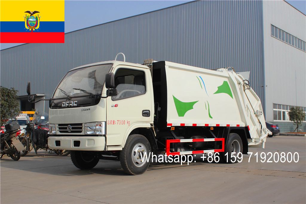 Ecuador buyer import 8units High quality DFAC 4000Liters garbage compactor truck