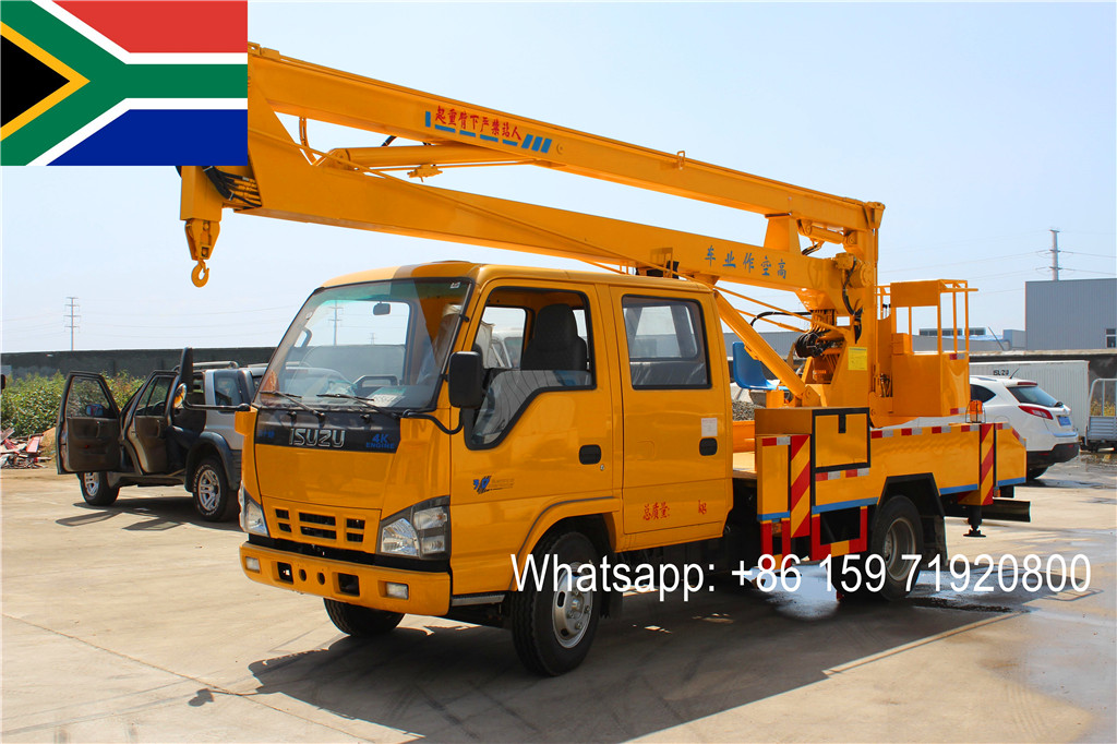 For South Africa 2016 new year produced ISUZU 14m Aerial Platform Truck