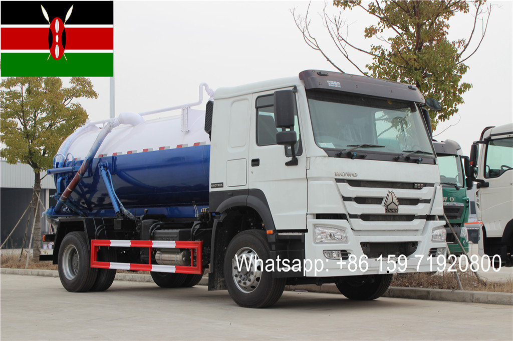 Kenya customer buy 1 Unit SINOTRUK RHD 10000liters cesspit emptier